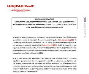 CIRCULAR INFORMATIVA DECRET LLEI 7_2021_9_febrer mesures extraordinaries cooperatives